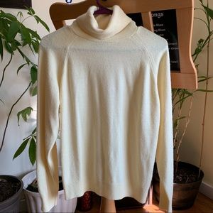 Sweaters - Pale Yellow Turtleneck Sweater - Small